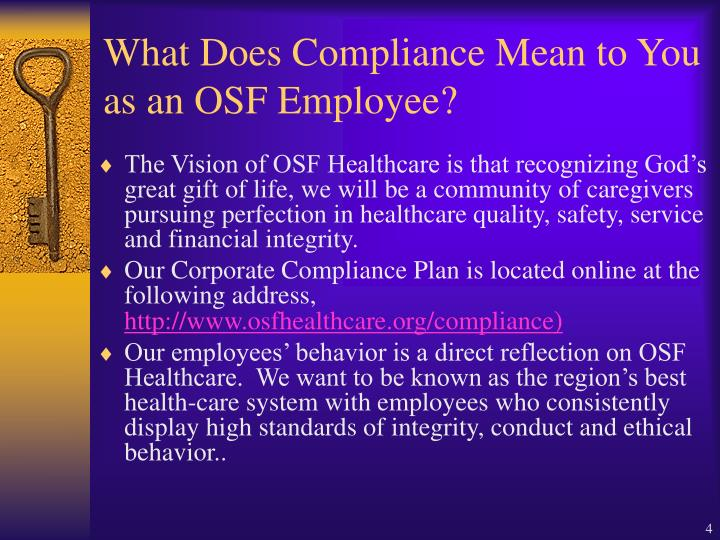 What Does Compliance Mean to You