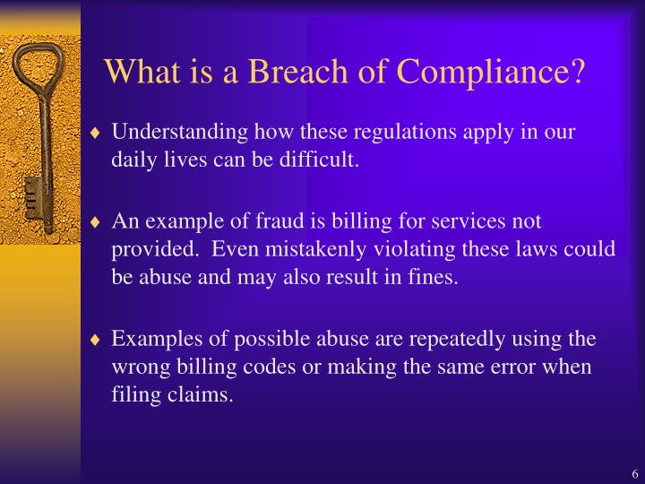 What is a Breach of Compliance?
