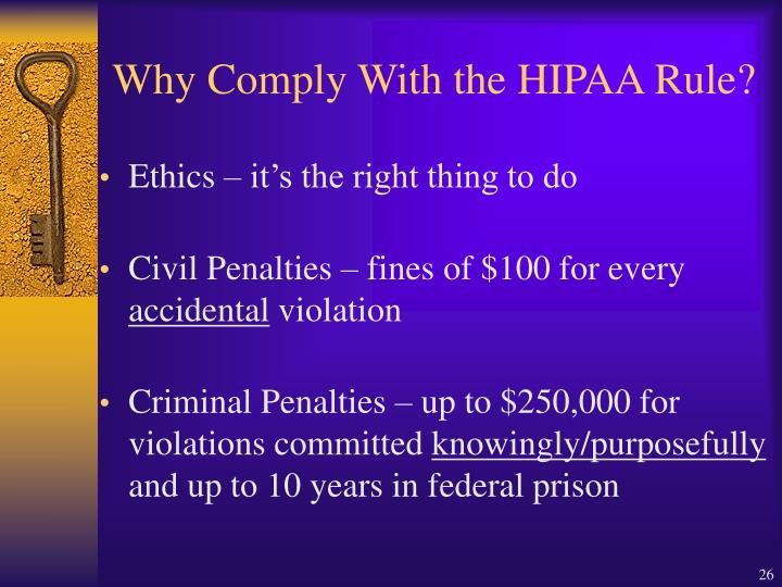 Why Comply With the HIPAA Rule?