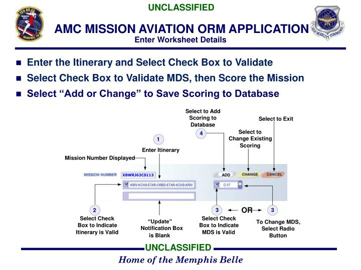 AMC MISSION AVIATION ORM APPLICATION