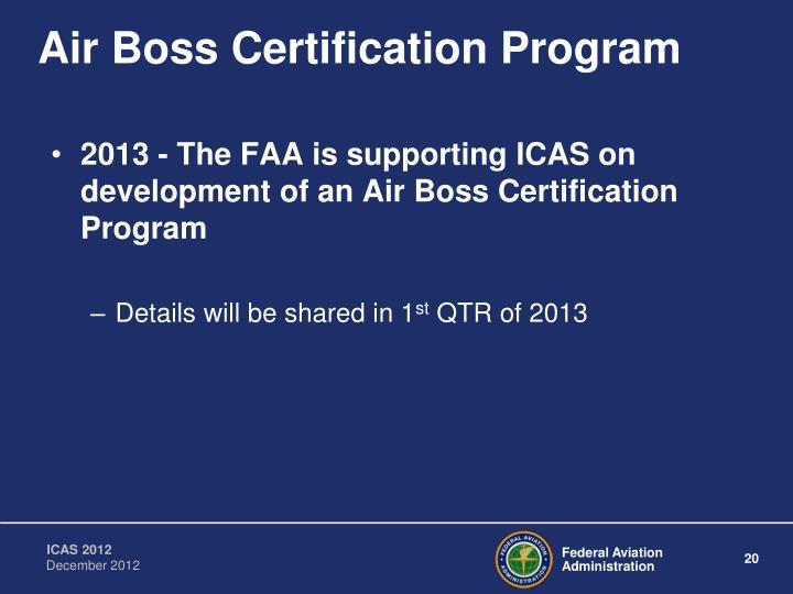 Air Boss Certification Program