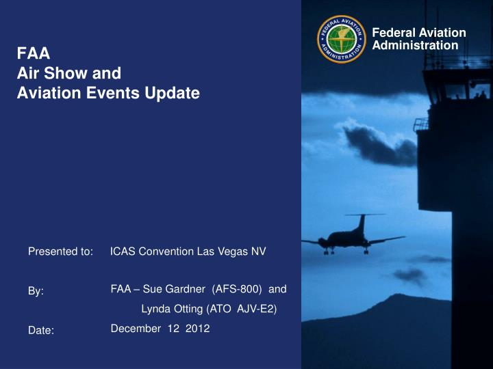 Faa air show and aviation events update