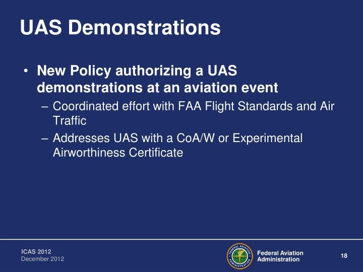 UAS Demonstrations