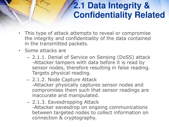 2.1 Data Integrity & Confidentiality Related