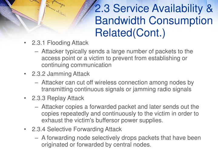 2.3 Service Availability & Bandwidth Consumption Related(Cont.)