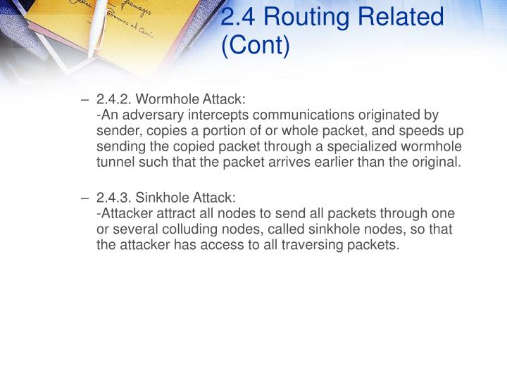 2.4 Routing Related (Cont)