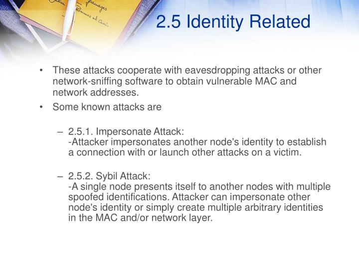 2.5 Identity Related
