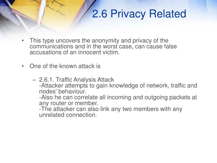 2.6 Privacy Related