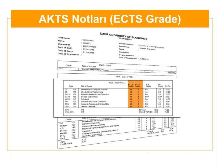 AKTS Notları (ECTS Grade)