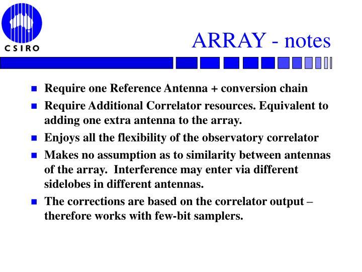 ARRAY - notes