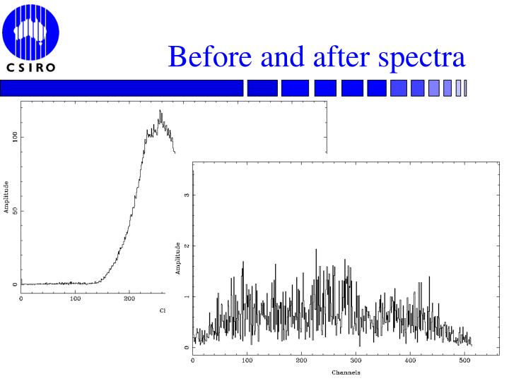 Before and after spectra