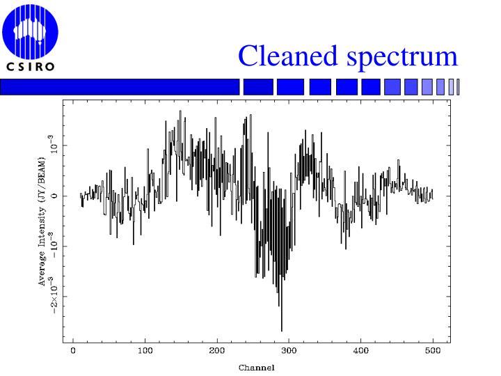 Cleaned spectrum