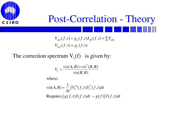 Post-Correlation - Theory