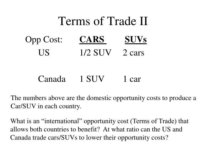 Terms of Trade II