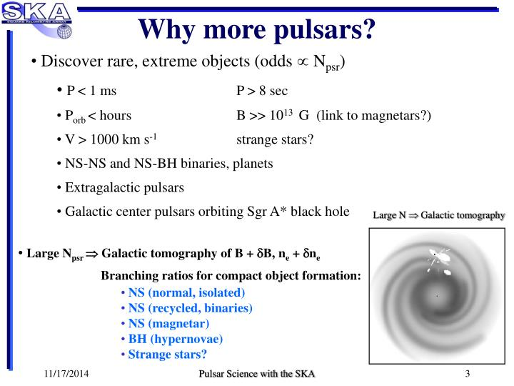 Why more pulsars?