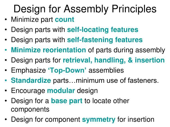 Design for Assembly Principles