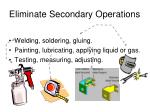 eliminate secondary operations1