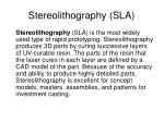 stereolithography sla