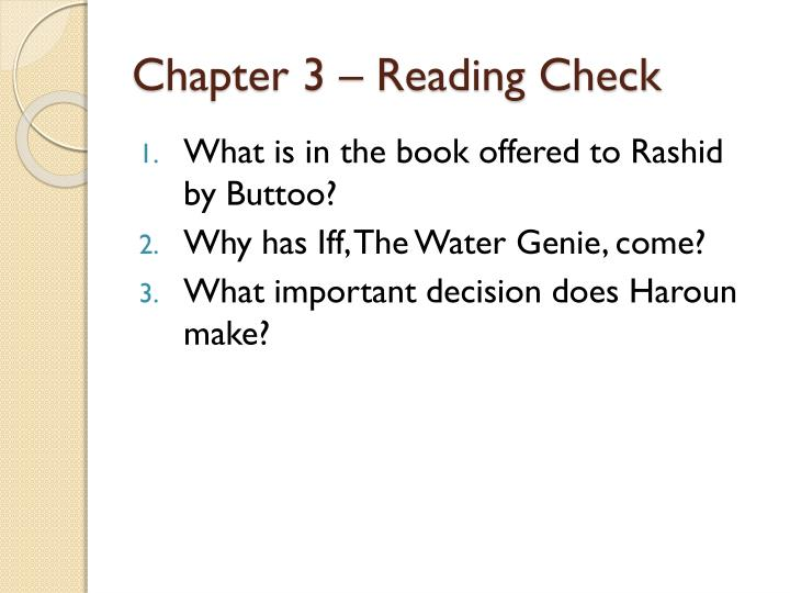 Chapter 3 – Reading Check