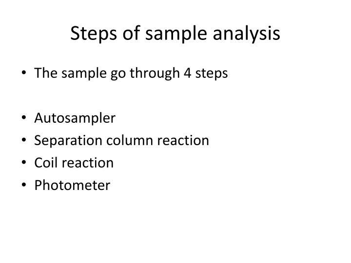 Steps of sample analysis