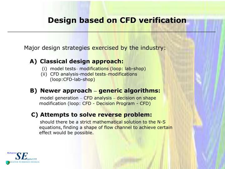 Design based on CFD verification