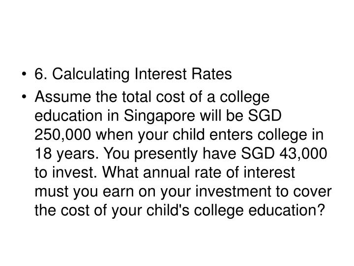 6. Calculating Interest Rates