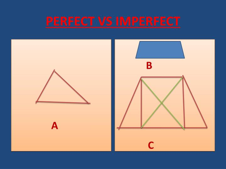 PERFECT VS IMPERFECT