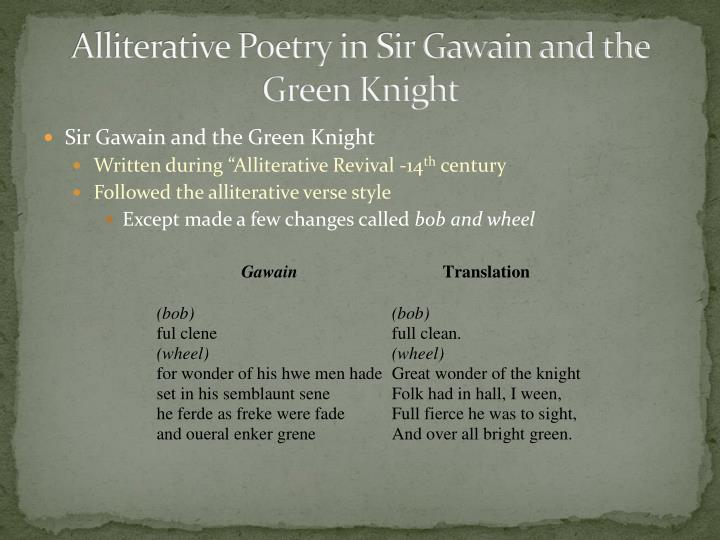 Alliterative Poetry in Sir Gawain and the Green Knight