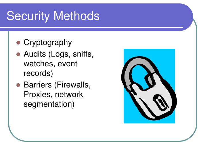 Security Methods