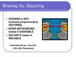 sharing vs securing