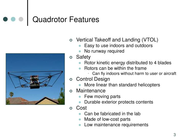 Quadrotor Features
