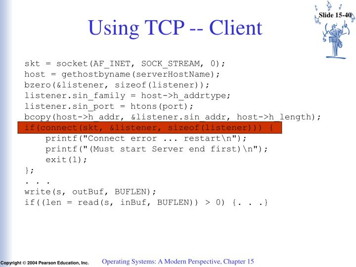 Using TCP -- Client