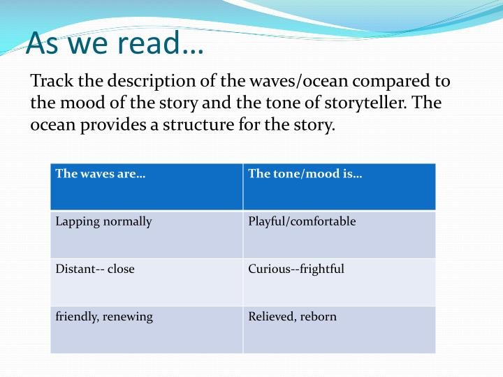 As we read…