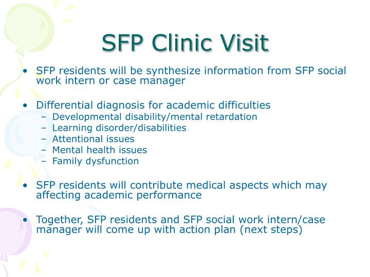 SFP Clinic Visit