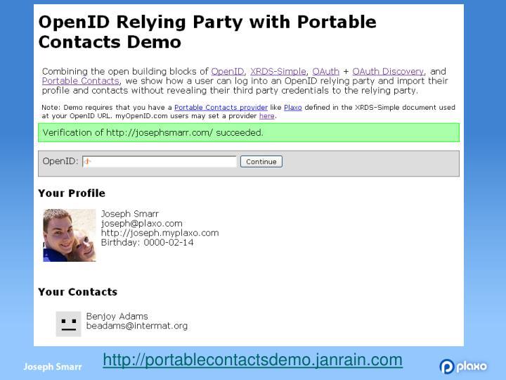 http://portablecontactsdemo.janrain.com