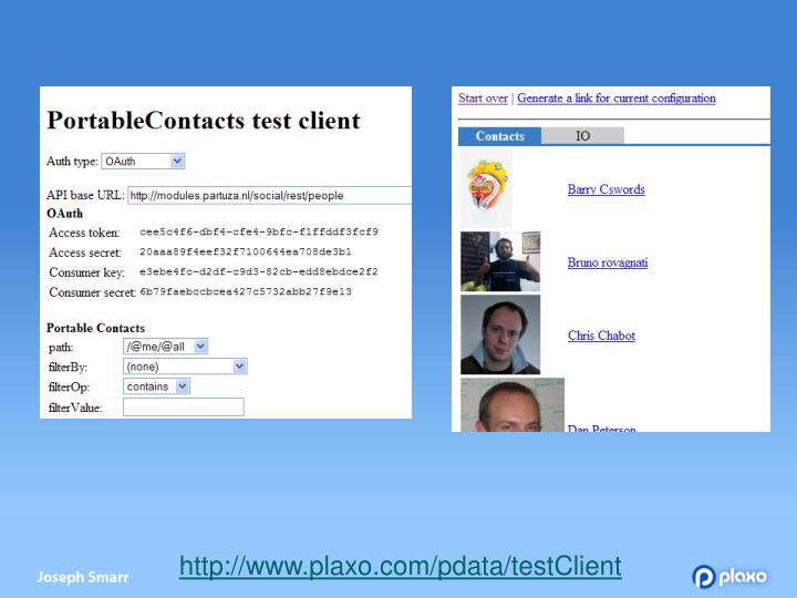 http://www.plaxo.com/pdata/testClient