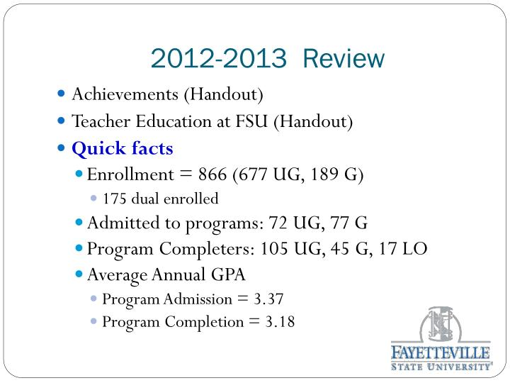2012-2013  Review