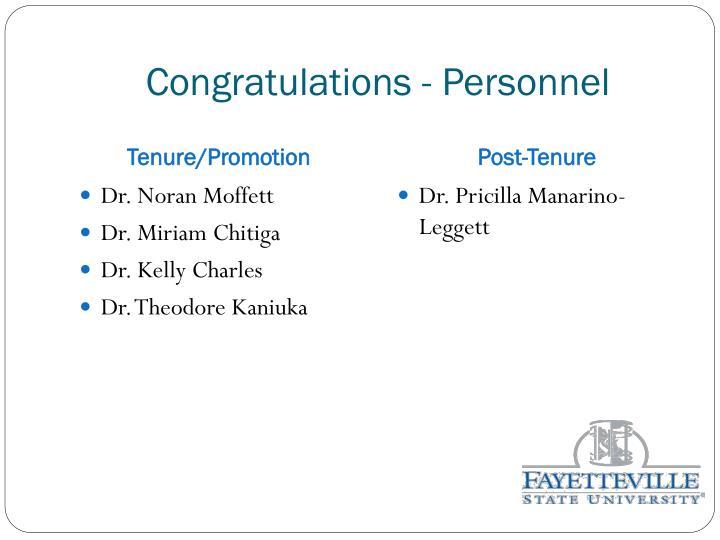 Congratulations - Personnel
