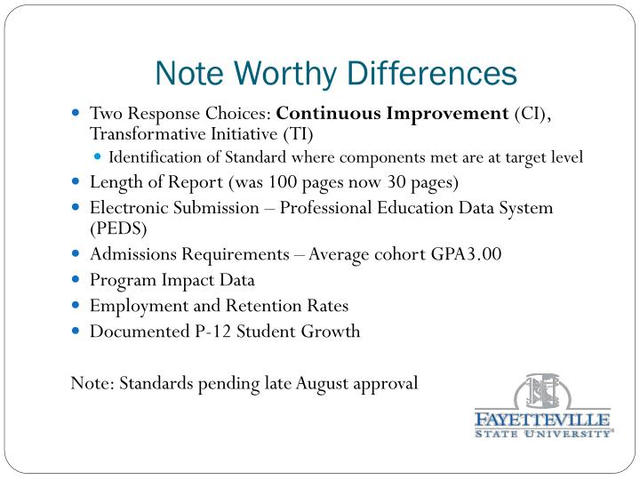 Note Worthy Differences
