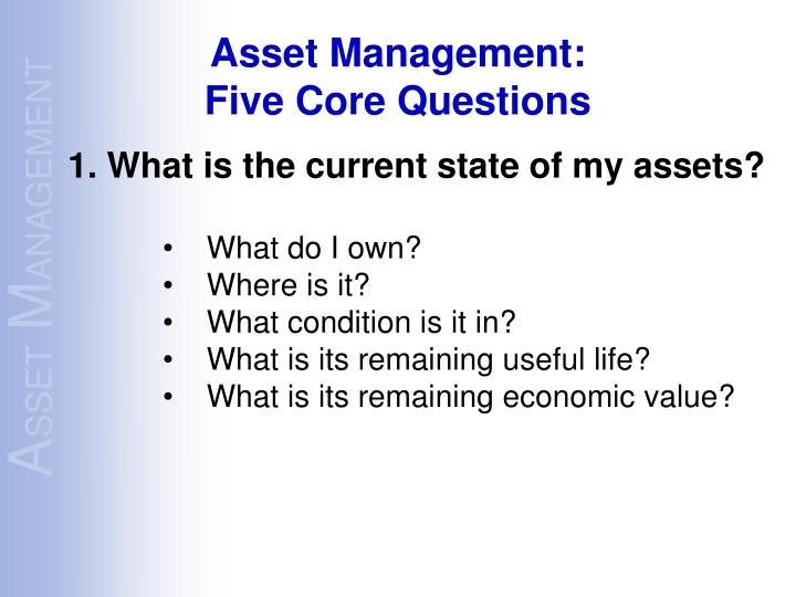 Asset Management: