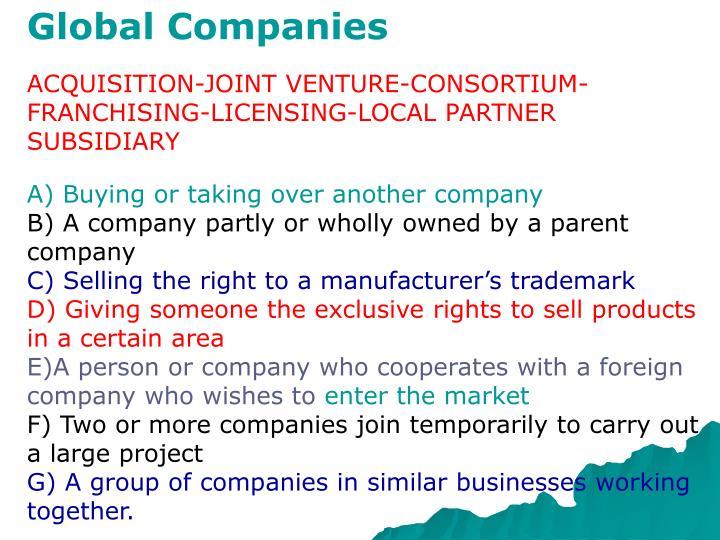 Global Companies