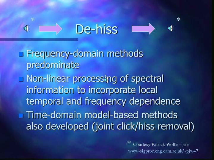 De-hiss