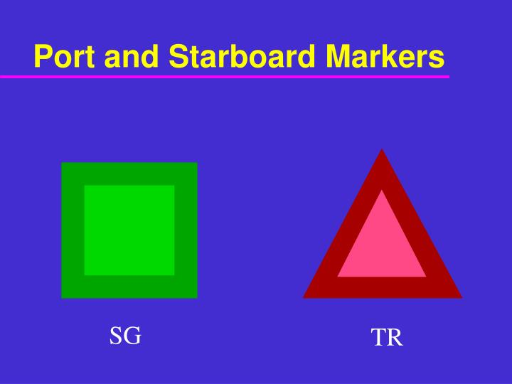 Port and Starboard Markers