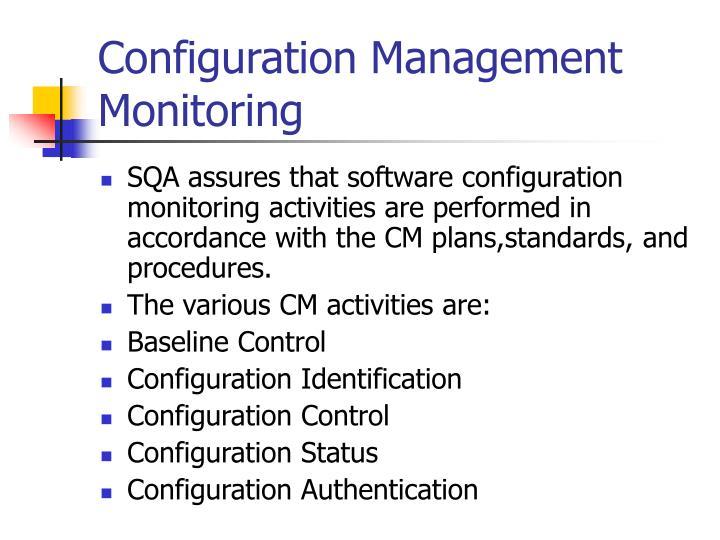 Configuration Management Monitoring