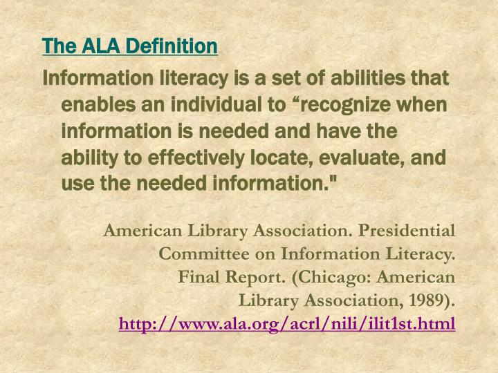 The ALA Definition