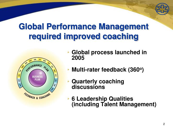 Global performance management required improved coaching