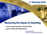 measuring the impact of coaching