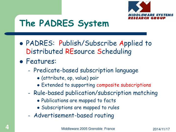The PADRES System