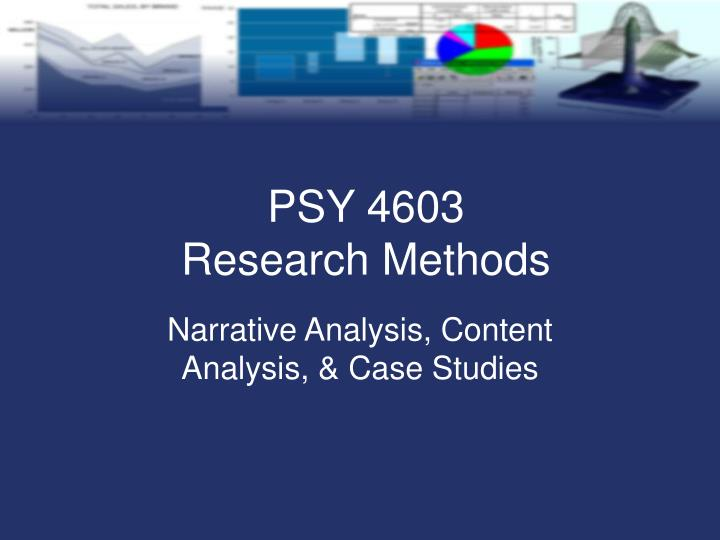 Narrative analysis content analysis case studies