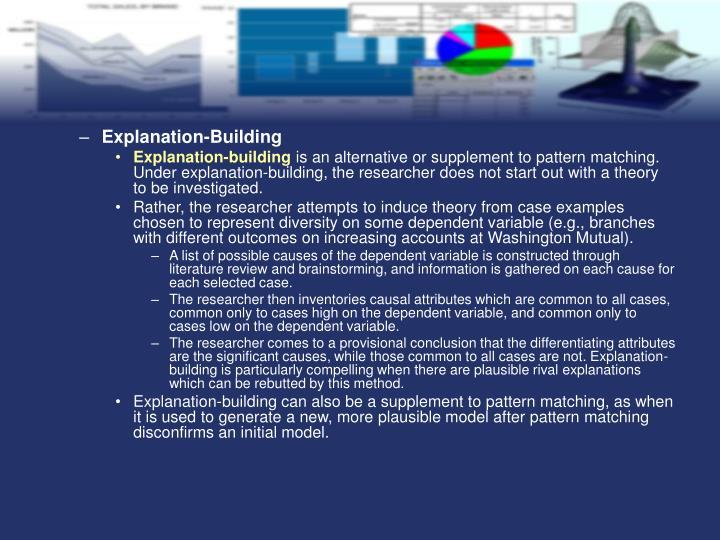 Explanation-Building